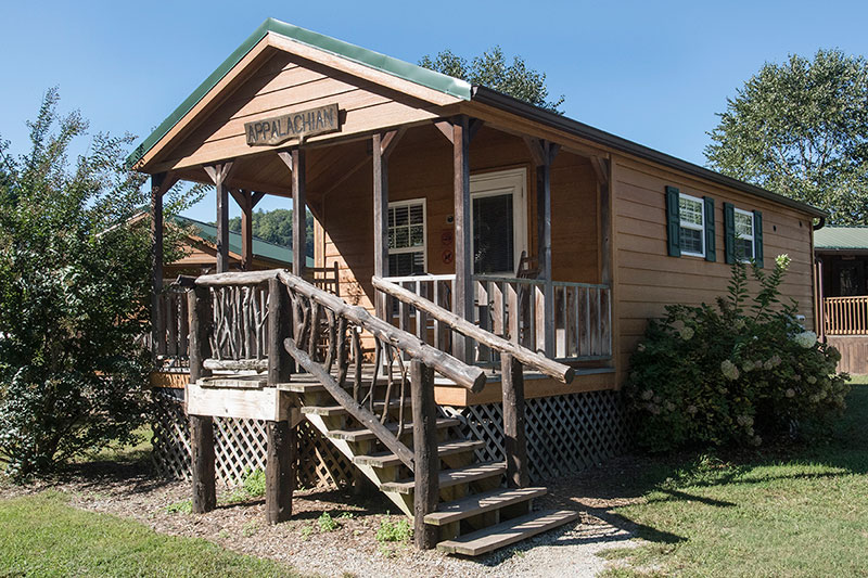 Affordable one bedroom cabins in campground near great for Appalachian mountain cabins