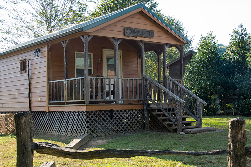 Affordable One Bedroom Cabins In Campground Near Great