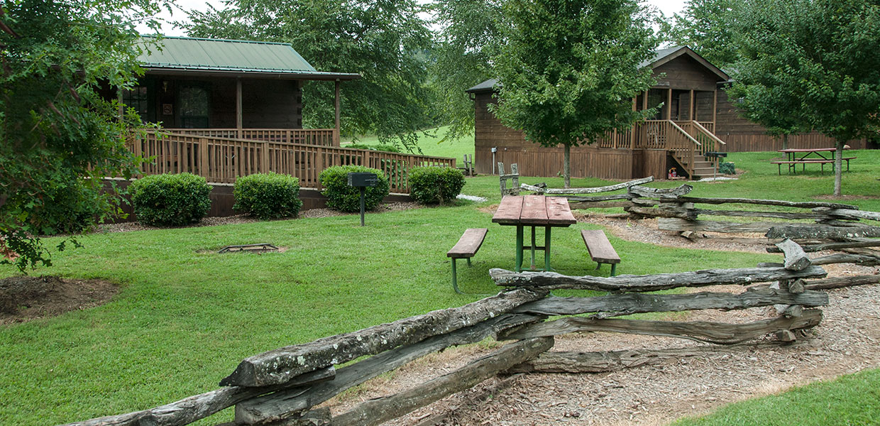 Budget friendly cabin rentals at bryson city nc campground Cabin creek 15